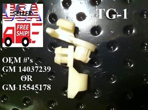 1981 - 1998 Chevy C/K C1500 C2500 C3500 Silverado Tailgate Handle Rod Clips TG1