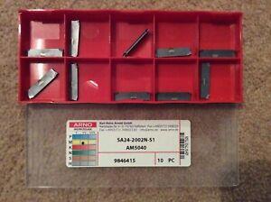 SA24-2002N-S1 AM5040 Arno Part Off Carbide Insert Tips £8.00+VAT Ea Bnib Invoice