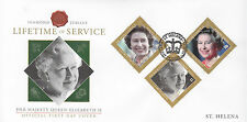St Helena 2012 FDC Diamond Jubilee Part II 3v Cover Queen Elizabeth II Royalty