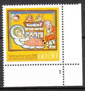 BRD 1980 Mi. Nr. 1066 Postfrisch Eckrand 4 Formnummer 1 TOP!!! (9798)