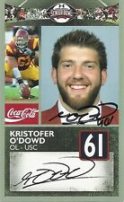 KRISTOFER O'DOWD USC SIGNED SENIOR BOWL CARD