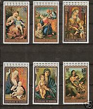 BURUNDI # 504-6,B250-2 MNH CHRISTMAS VIRGIN & CHILD ART