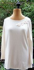 Randolph Duke The Look Long Sleeve Sweater With Flower Detail Womens M New!