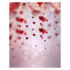 Heart Love Digital Photography Background Fabric Photo Props Studio Backdrop