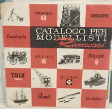 CATALOGO PER MODELLISTI RIVAROSSI n 75030 Modellismo Treni Auto Aerei Soldatini