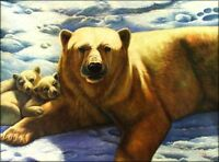 Quality Hand Painted Oil Painting Mother Bear and Its Babies 30x40in