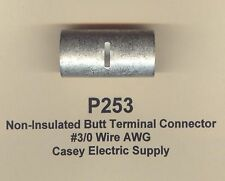 2 Non Insulated BUTT Terminals Connectors Uninsulated #3/0 Wire Gauge AWG MOLEX