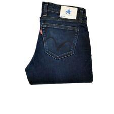 Levis Blue Star Finest Straight Leg Zips Low Waist JEANS woman W30 UK12 M GOOD
