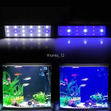 Aquarium Light Clip Fish Tank Lamp White Blue 7W 10W Freshwater Fish Tank Clamp