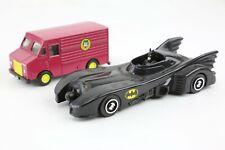 vintage ertl Batman Batmobile toy car 1/48 Diecast Joker Van 1989 playset old
