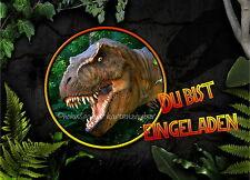8 Einladungskarten T-Rex Dinosaurier Geburtstag Kindergeburtstag Einladungen