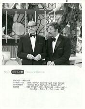 JACK BENNY DAN ROWAN ROWAN AND MARTIN'S LAUGH-IN ORIGINAL 1969 NBC TV PHOTO