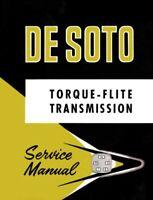 1956 1957 Desoto Torque Flite Transmission Shop Service Repair Manual