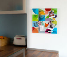 Remember Solena Magnettafel Glas beschriftbar Magnetwand Memoboard 45x45 Cm