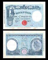 ITALY 50 LIRE 1943 PICK # 64 VF+/ aXF