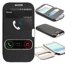 Samsung Galaxy S3 Double View Handy Schutz Hülle Wallet Magnet Verschluss Etui