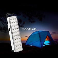 Linterna de 30 LED recargable Camping Luz de lámpara de emergencia portátil