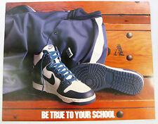 1985 NIKE Dunk Basketball Poster Be True To Your School Villanova Wildcats BTTYS