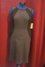 New with Tags MICHAEL KORS DARK DERBY DRESS SIZE 12 Black and Gray NWT MSRP $130