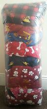 """LARGE DOG BED CUSHION WITH ZIP 39"""" x 29"""" DIFFERENT PATTERN 10 IN 1 BALE  JOB LOT"""
