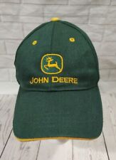 John Deere Hat Baseball Cap Green With Yellow Trim One Size