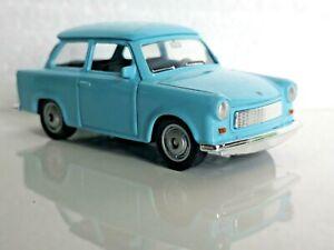 🚓 WELLY NEX DROMADER CAR Scale Model 1:60 1/60 BOX TRABANT 601 light blue