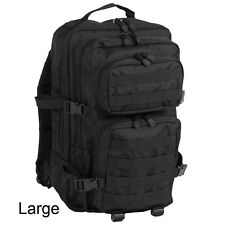 02433bc5220 Mil-Tec US Assault Backpack Army MOLLE Modular Tactical Rucksack Small 20l  Black