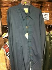 NEW STUBBS COLLARED Shirt BLUE / TEAL 3XL XXXL w/ METAL Buttons