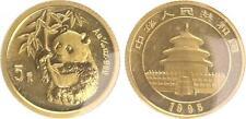 La Chine 5 yuan panda 1995, 1/20 Onces Original soudés, st
