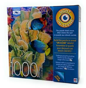 Milton Bradley Sight Un-Scene 1000 Pc. Jigsaw Puzzle - Under The Sea