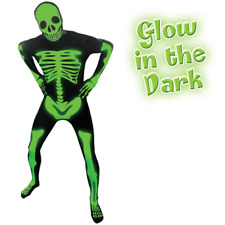 GLOW IN THE DARK SKELETON  Morph Original Morphsuits party costume LARGE size
