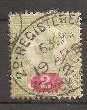 UK-GREAT BRITAIN-1887/1900-VICTORIA-2 PENCES-GREEN&RED-Y&T nr.94-used stamp
