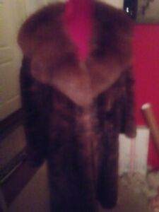 Sharon Tate Owned & Worn Brown Mink Monogrammed Coat from Studio Costumer