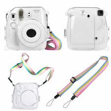 For Fujifilm Instax Mini 8 / 8+ / 9 Camera Clear Hard Pvc Cover Case with Strap