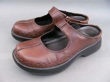 DANSKO Brown Leather Mary Jane Clogs Slip On US 9, EU 40