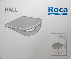 ROCA HALL WC Toilet Seat & Cover with Regular Hinges 801620004 White