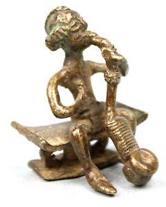 Art African - Antique Weight Akan - Goldweight - Figure Ashanti Asante 5,2 CMS