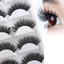 10Pairs Natural False Fake Eyelashes Thick Long 3D Mink Eye Lashes Extension US