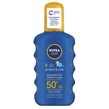 NIVEA SUN KIDS PROTECT & CARE SPF50+ VERY HIGH SUN LOTION 200ml x 2 NEW