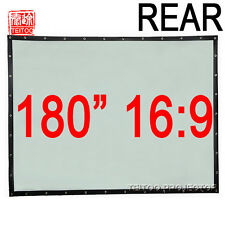 180 Inch 16:9 Wall Mounted Portable Rear Projection Screen to HD Movie Projector