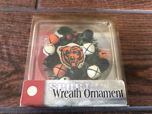 """Chicago Bears NFL 3"""" Christmas Wreath / Bell Ornament, New With Tags"""