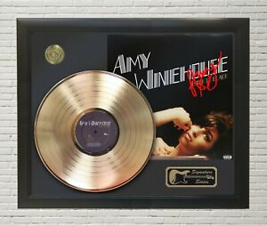 """Amy Winehouse Framed wood Reproduction Signature LP Record Display. """"M4"""""""