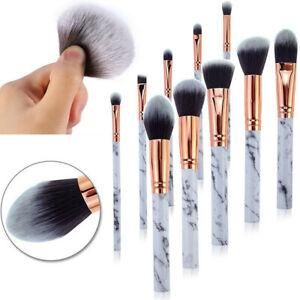 UK Marbling Kabuki Make up Brush Set Brushes Blusher Face Powder Blender Brushes