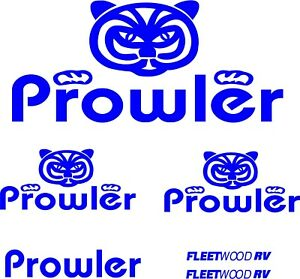 6pc Prowler Camper RV Vinyl Decal Stickers Camper Graphics
