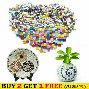 100Pieces/100g Stained Glass Mosaic Tiles Polished Glitter Crystal  Arts Crafts