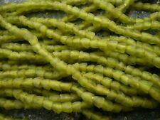 Strang Altglasperlen 5 mm small flower lemon green - Recycled Glass Beads Ghana