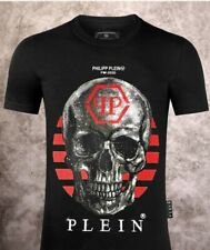 Philipp Plein T-shirt Platinum Cut Teschio Skull Originale Strass Maglietta M-L