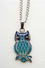 Sea Gems Owl Colour Change Mood Necklace / Pendant with 16.5 inch Chain