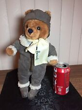 12 Inch Harrods Collectible Bear Bomber Outfit With Logo Scarf, Non Articulated