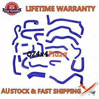 (BLUE) SILICONE RADIATOR HOSE PIPING KITS FOR SILVIA S13 CA18DET CA18